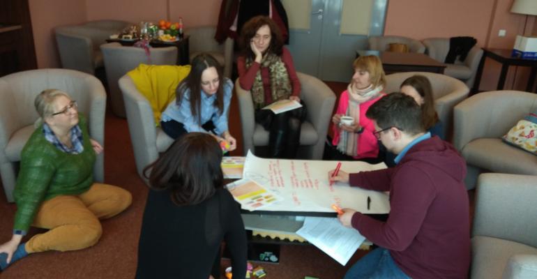 Фасилітована сесія для команди Інституту лідерства та управління УКУ